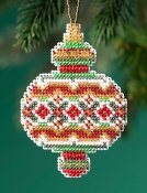 Mill Hill Beaded Holiday Ornament 2019 - Ruby Diamond THUMBNAIL