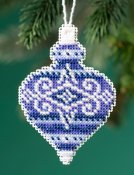 Mill Hill Beaded Holiday Ornament 2019 - Sapphire Opal THUMBNAIL