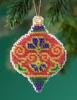 Beaded Christmas Ornaments.Mill Hill Beaded Holiday Ornament 2019 Crimson Cloisonne