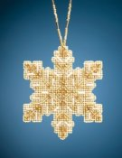 Mill Hill Beaded Ornament - Golden Snowflake THUMBNAIL