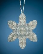 Mill Hill Beaded Ornament - Opal Ice Snowflake THUMBNAIL