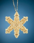 Mill Hill Beaded Ornament - Victorian Snowflake THUMBNAIL