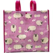 Stitch & Knit Sheep Reusable Tote Bag THUMBNAIL