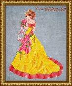 Cross Stitching Art - Milady of Spring THUMBNAIL