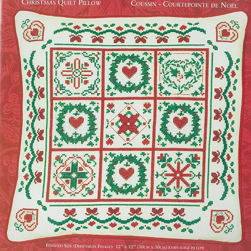 Needle Treasures - Christmas Quilt Pillow