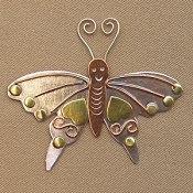 Puffin & Company Magnetic Needle Nanny - Butterfly