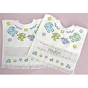 Printed Baby Bib - Noah's Animals