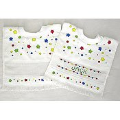 Printed Baby Bib - Nursery Time (Bright Stars Pattern)
