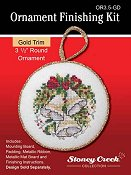 "Ornament Finishing Kit - 3 1/2"" Round Gold THUMBNAIL"