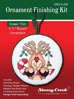 "Ornament Finishing Kit - 3 1/2"" Round Green MAIN"