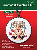 "Ornament Finishing Kit - 3 1/2"" Round Green THUMBNAIL"