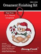 "Ornament Finishing Kit - 3 1/2"" Round Red"