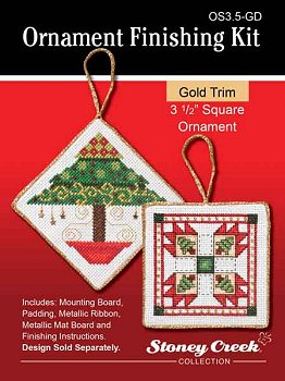 "Ornament Finishing Kit - 3 1/2"" Square Gold MAIN"