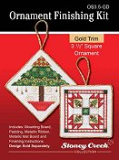 "Ornament Finishing Kit - 3 1/2"" Square Gold THUMBNAIL"