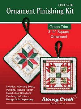 "Ornament Finishing Kit - 3 1/2"" Square Green MAIN"