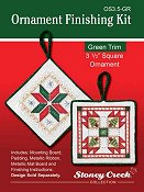 "Ornament Finishing Kit - 3 1/2"" Square Green"
