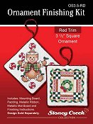 "Ornament Finishing Kit - 3 1/2"" Square Red"