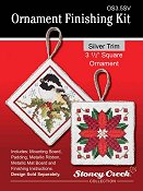 "Ornament Finishing Kit - 3 1/2"" Square Silver"