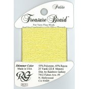 Rainbow Gallery Petite Treasure Braid PB201 Shimmer Yellow THUMBNAIL