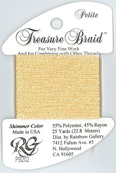 Rainbow Gallery Petite Treasure Braid PB202 Shimmer Peach MAIN