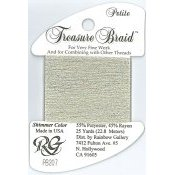 Rainbow Gallery Petite Treasure Braid PB207 Shimmer Ecru_THUMBNAIL