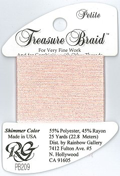 Rainbow Gallery Petite Treasure Braid PB209 Shimmer Pink Carnation MAIN