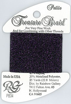 Rainbow Gallery Petite Treasure Braid PB34 Deep Purple MAIN