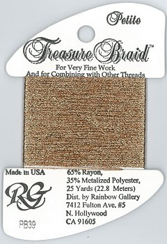 Rainbow Gallery Petite Treasure Braid PB39 New Copper MAIN