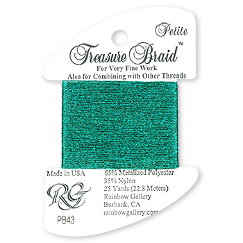Rainbow Gallery Petite Treasure Braid PB43 Turquoise MAIN