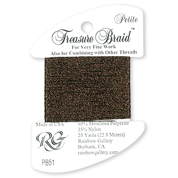 Rainbow Gallery Petite Treasure Braid PB51 Dark Chocolate MAIN