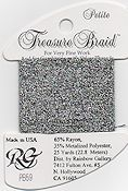 Rainbow Gallery Petite Treasure Braid PB59 Black Silver