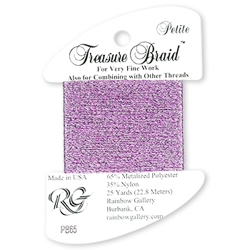 Rainbow Gallery Petite Treasure Braid PB65 Lite Violet MAIN