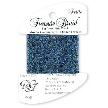 Rainbow Gallery Petite Treasure Braid PB69 Sapphire MAIN