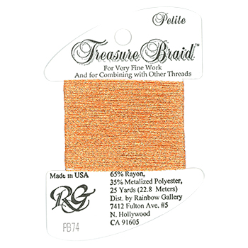 Rainbow Gallery Petite Treasure Braid PB74 Wild Salmon MAIN