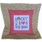 Pine Mountain Designs - Flange Pillow Sham - Lucky To Be Loved By You
