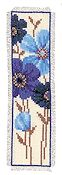 Vervaco Cross Stitch Kit - Blue Daisies I Bookmark Kit
