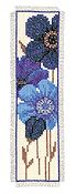 Vervaco Cross Stitch Kit - Blue Daisies II Bookmark Kit