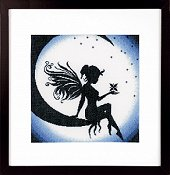 Lanarte Cross Stitch Kit - Fairy On The Moon THUMBNAIL
