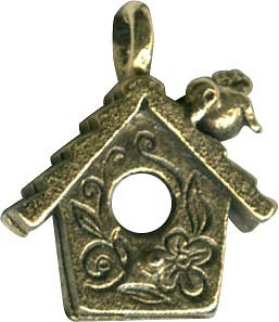 Charm Birdhouse Antique Gold