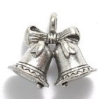 Charm - Silver Christmas Bells MAIN
