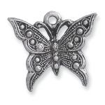 Charm - Silver Butterfly