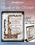 Quote of the Month - April (Dance in the Rain)