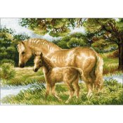 Riolis Cross Stitch - Horse With Foal THUMBNAIL