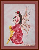 Cross Stitching Art - Rose Fairy THUMBNAIL