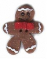 Button - Gingerbread Man W/Bowtie MAIN