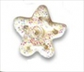 Button - White Glitter Snowflake, Medium