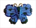 Button - Butterfly, Blue MAIN