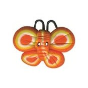 Button - Orange Butterfly THUMBNAIL