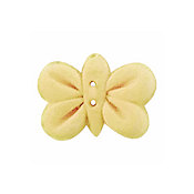 Button - Yellow Butterfly THUMBNAIL