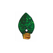 Button - Green Glitter Christmas Light THUMBNAIL